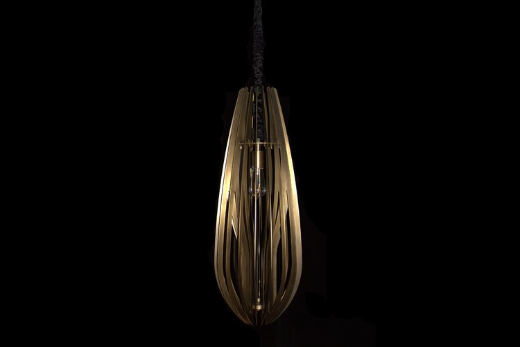 Custom decorative copper and glass pendant light simple EME LIGHTING