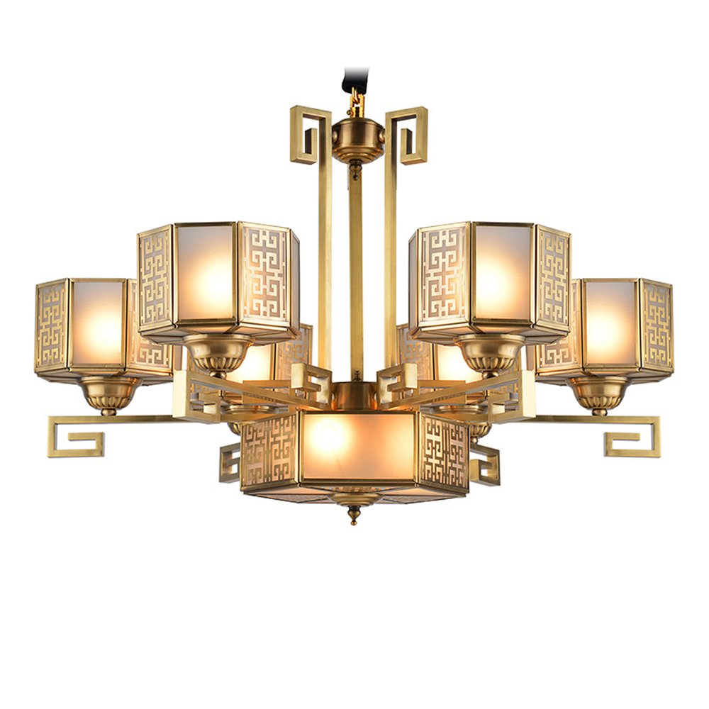 EME LIGHTING Restaurant Chandelier (EAD-14002-6) Brass Chandelier image165