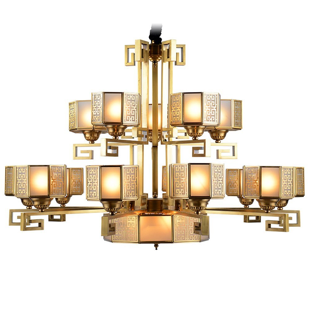 EME LIGHTING Traditional Large Hotel Chandeliers (EAD-14002-10+5) Brass Chandelier image151