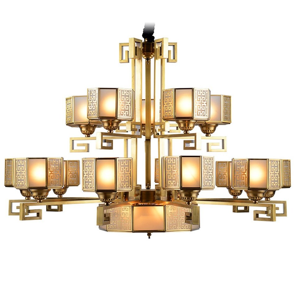 Traditional Large Hotel Chandeliers (EAD-14002-10+5)