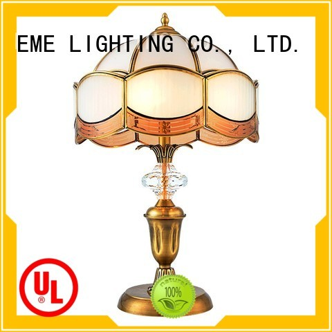 EME american chrome and glass table lamps white EME LIGHTING company