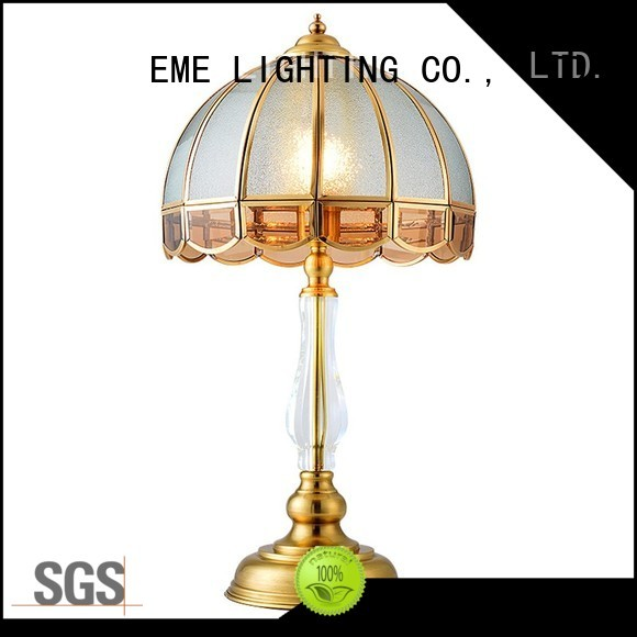 decorative retro unique EME LIGHTING Brand chrome and glass table lamps factory