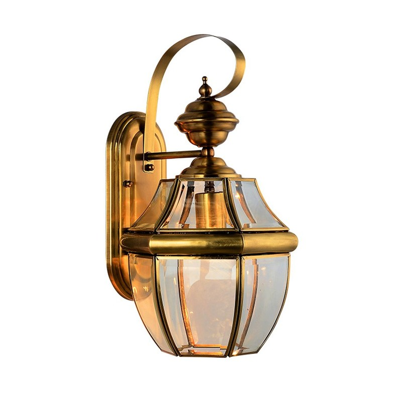 Decorative Glass Wall Light EOB-14106-1A (Size S)