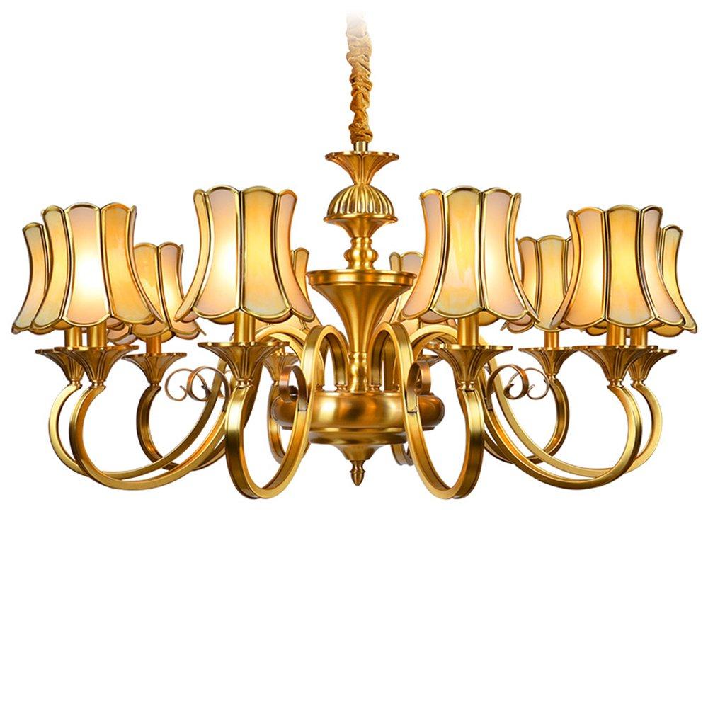 EME LIGHTING Murano Style Chandeliers (EAD-14009-10) Brass Chandelier image111