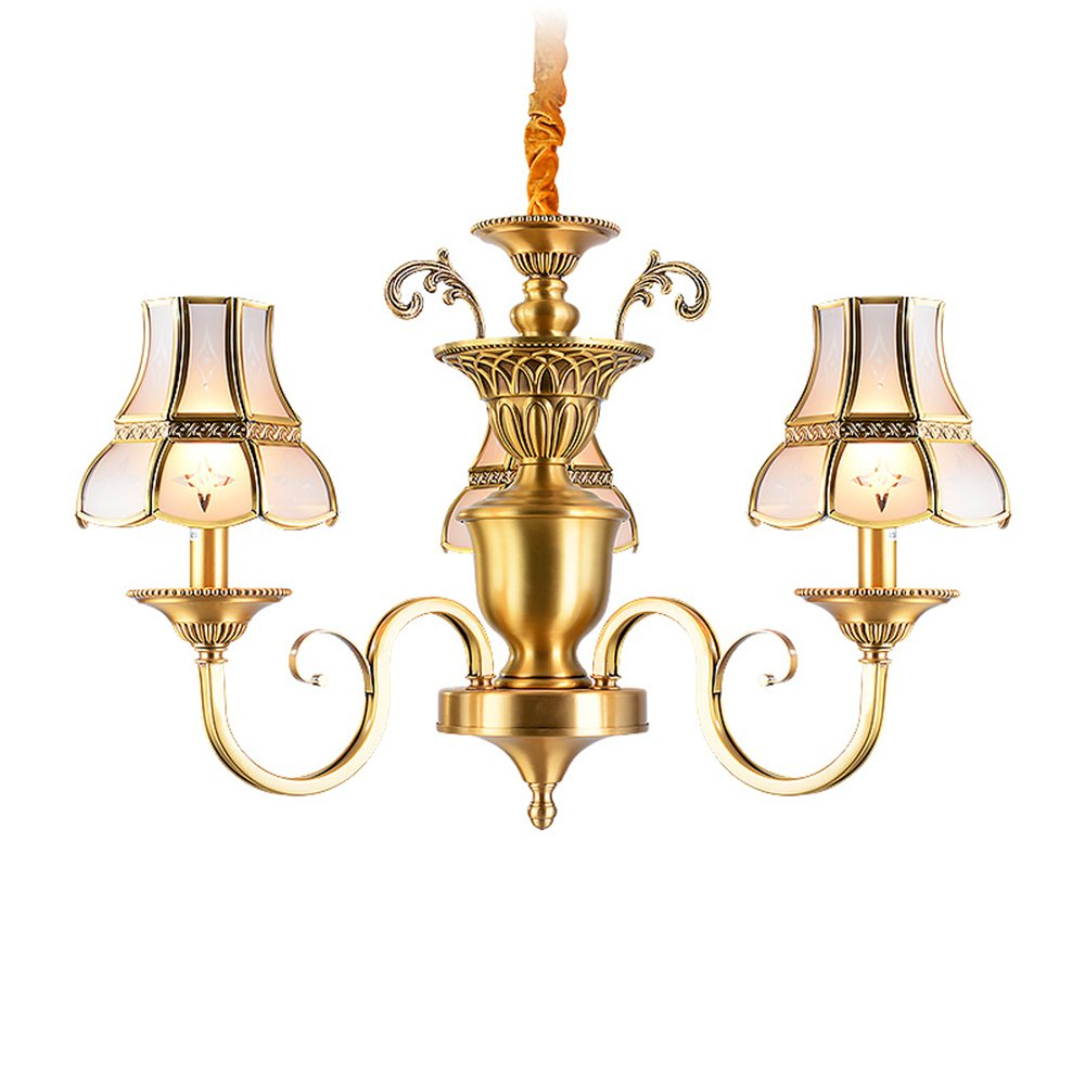 EME LIGHTING Elegant Chandelier (EAD-14010-3) Brass Chandelier image109