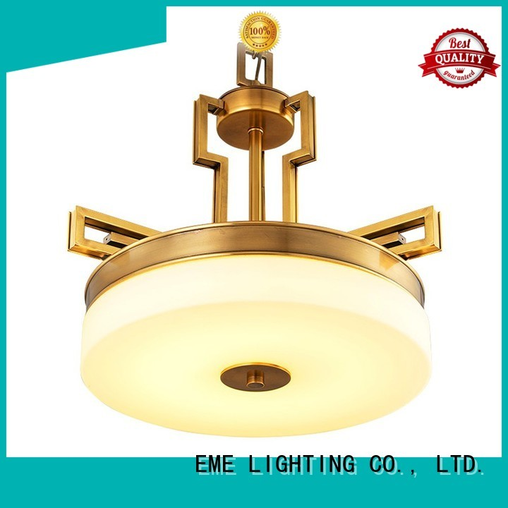 Quality EME LIGHTING Brand copper antique brass chandelier