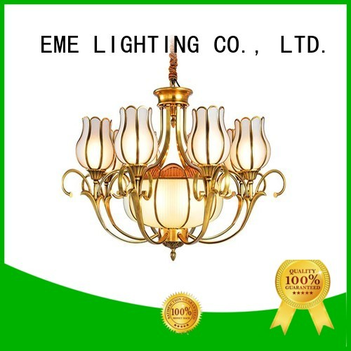Wholesale murano residential antique brass chandelier EME LIGHTING Brand