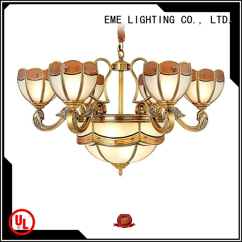 elegant luxury hanging OEM antique brass chandelier EME LIGHTING