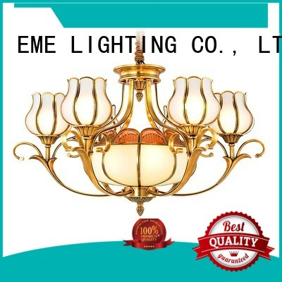decorative chandeliers glass EME LIGHTING Brand antique brass chandelier
