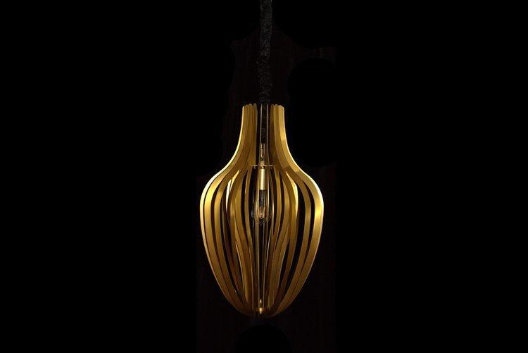 Copper Hanging Pendant Light (D350*H600)