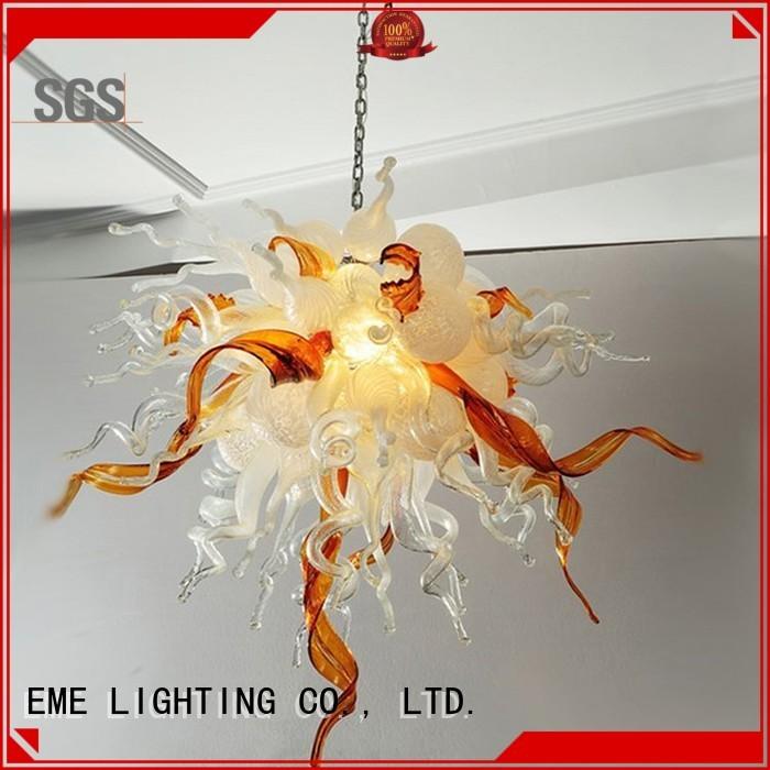 Wholesale pendant floor copper and glass pendant light EME LIGHTING Brand