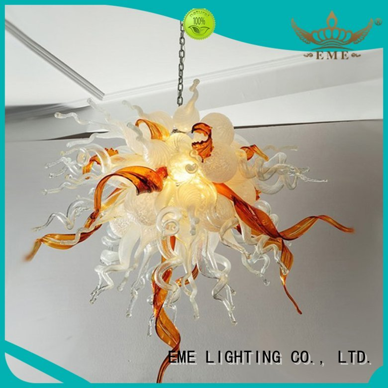 colored ceiling lamp copper and glass pendant light EME LIGHTING Brand