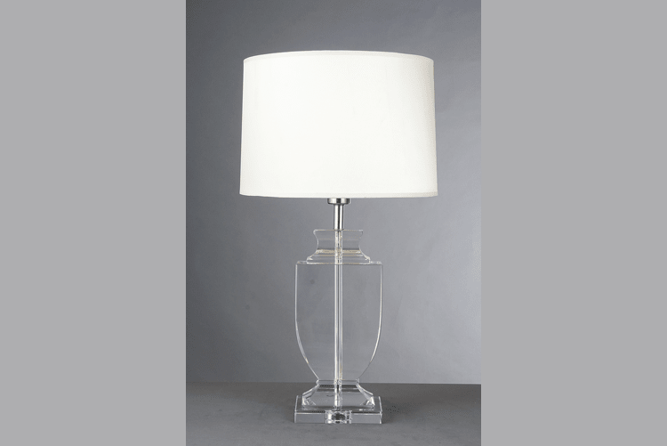 White Glass Table Lamp (EMT-050)