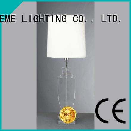 modern novelty brass EME LIGHTING Brand chrome and glass table lamps factory