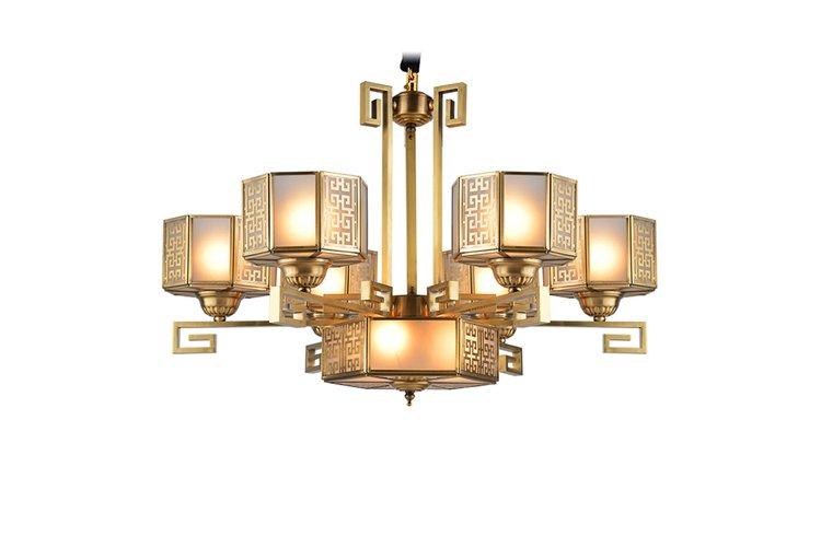Hot antique antique brass chandelier led home EME LIGHTING Brand
